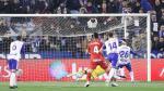 Luis Suárez, en la acción del penalti lanzado en el minuto 9 en el partido del sábado ante el Fuenlabrada, que le paró Biel Ribas.
