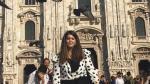 María Serrano, en una imagen delante de la catedral de Milán.