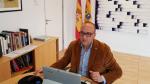 Felipe Faci participa en la comisión telemática de las Cortes.