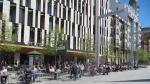 Terrazas llenas en la plaza de España este sábado