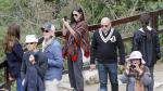 La actriz Demi Moore durante su visita el Machu Picchu.