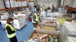El almacén del Banco de Alimentos, con los productos de una Gran Recogida.