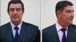 Antes y después del corte de pelo del juez