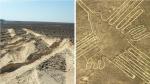 Un camión pasa por encima de las Líneas de Nazca
