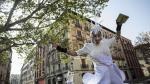 Los zanquistas no han faltado a su cita en la presentación de 'Zirco', este martes, en Zaragoza.