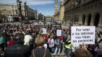 Cientos de jubilados en una concentración en defensa de las pensiones