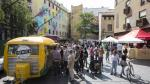 Festival de 'foodtrucks' en la plaza de Mariano de Cavia.