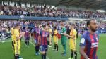 El Nástic hizo el pasillo al Huesca por su reciente ascenso.