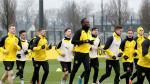 El atleta Usain Bolt, durante un entrenamiento del Borussia Dortmund.
