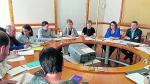 Imagen de la última reunión entre la directora de Función Pública, Arántzazu Millo, y los sindicatos.