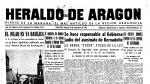 Portada de Heraldo de Aragón del anuncio de la concesión del título de basílica del Pilar
