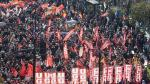 Imagen de la masiva manifestación que hubo en 2012 en Zaragoza contra la reforma laboral