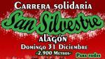 Cartel que anuncia la solidaria San Silvestre de Alagón.
