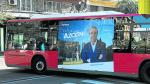 Campaña del PP en uno de los autobuses de Zaragoza