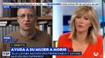 Momento de la entrevista de Susanna Griso a Ángel Hernández en Espejo Público.