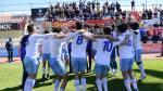 Imagen de la celebración del título de liga del Real Zaragoza en el campo del Reus