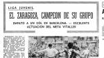 Imagen de la crónica en HERALDO del Real Zaragoza Juvenil 1977