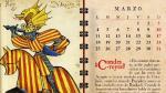 Marzo, en el calendario editado por el Gobierno de Aragón