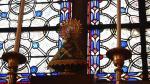 Imagen de la pequeña figura de la Virgen del Pilar en la sacristía de la catedral de Notre Dame.