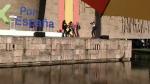 Imagen de un vídeo compartido en Twitter por Vox Ciudad Lineal.