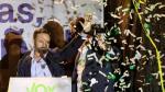 El presidente de Vox, Santiago Abascal, valora los resultados electorales.