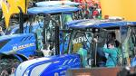 Unidades de algunos de los tractores más novedosos que se exhibieron en la última edición de la Feria Internacional de Maquinaria Agrícola (FIMA) en Zaragoza.