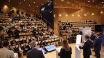 Los candidatos, en el debate a 8 celebrado por HERALDO en la sala Luis Galve del Auditorio.