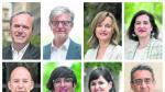 Los ocho candidatos al Ayuntamiento de Zaragoza.