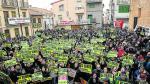 Protestas en Andorra el 22 de enero durante la visita de la ministra Teresa Ribera