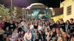 Jóvenes de Ejea, usuarios del bus el año pasado.