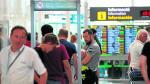 Imagen del pasado 25 de agosto de la anterior huelga convocada en el aeropuerto de El Prat