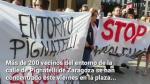 En la protesta se han vivido momentos de tensión cuando el concejal y exalcalde de Zaragoza, Pedro Santisteve, se ha acercado. Algunos de los vecinos le han abroncado por su 'inacción en la zona' mientras fue primer edil.