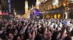 Ambiente en la plaza del Pilar durante las fiestas