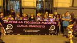 Manifestación contra la violencia machista en el centro de Zaragoza.