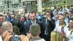 Imágenes como ésta de 2014 se repetirán este lunes en la segunda visita de Felipe VI a Figueruelas.