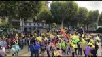 """""""Queremos vivir en nuestros pueblos dignamente, ni con miserias ni con limosnas, queremos precios justos"""", insistía este sábado un ganadero participante en la manifestación."""