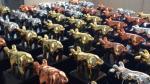 Estatuillas de oro, plata y bronce con las que los Porc d'Or reconocen a los premiados