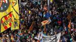 Miles de personas se manifiestan en Barcelona contra la sentencia del procés