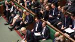 Boris Johnson, durante el debate de hoy en la Cámara de los Comunes.