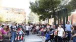 Concentración a las puertas del colegio de educación especial Alborada de Zaragoza, celebrada a finales de septiembre.