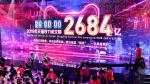 Vista de la sede de Grupo Alibaba en la ciudad china de Hangzhou este lunes, el festival por excelencia de las compras en China, el Doble Once o Día del Soltero, que ha vuelto a batir récords