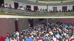 El Teatro Municipal de Alcañiz, hasta la bandera de escolares