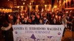 Manifestación en Teruel por el Día Internacional para la eliminación de la violencia contra la mujer