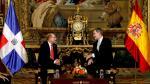 El Rey Felipe VI recibe al Presidente de la República Dominicana con motivo de la Cumbre del Clima