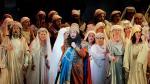 Plácido Domingo se reencontró la noche de este lunes con el público del Palau de les Arts de Valencia con 'Nabucco'.