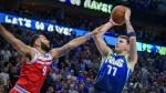 final shot to tie the game as Sacramento Kings guard Cory Joseph (9) defends during the second half at the American Airlines Center. Mandatory Credit: Jerome Miron-USA TODAY Sports [[[REUTERS VOCENTO]]] BASKETBALL-NBA-DAL-SAC/