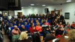 Asamblea contra los parques eólicos celebrada recientemente en la sede de la Comarca del Matarraña.