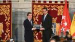 Juan Guaidó recibe la Llave de Oro de Madrid.