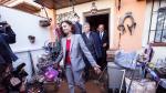 La ministra de Hacienda y portavoz del Gobierno, este miércoles, tras salir de una casa afectada por la borrasca Gloria en Campanillas