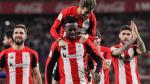El Athletic celebra la victoria contra el Barcelona que les dio el pase a semifinales.